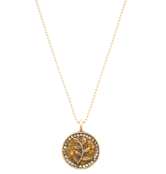 On the vine 14k gold pendant christian necklace mustard seed jewelry sku10021g aloadofball Image collections