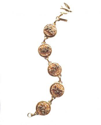 """""""On the Vine"""" Large Gold Vine Bracelet"""